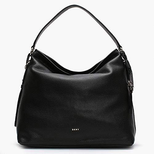 DKNY marcy schwarz Kiesel leder hobo tasche Black Leather - Dkny Damen-schwarz-leder