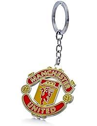 REINDEAR Soccer Football Club Team Logo Metal Pendant Keychain (Manchester United F.C.)