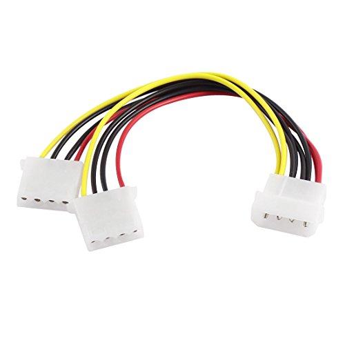 Preisvergleich Produktbild IDE 4 Pin Außen zu Doppel 4 Pin Innen Y Splitter Erweiterung Kabel StromAdapter