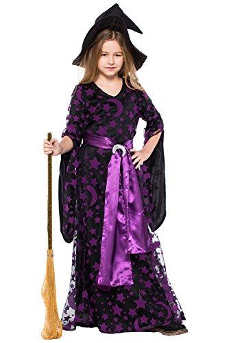 Joyplay Kinder Mädchen Sexy Hexe Kostüme Erwachsene Kostüm Kit für Party/Cosplay/Halloween -