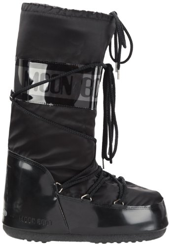 Moon Boot Glance, Boots femme Noir (Nero)