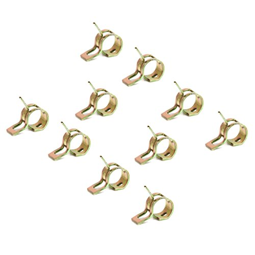Preisvergleich Produktbild Gazechimp 10 Stück Federklemme Rohrschellen Rohrschellen für Schlauch Wasserrohr Kraftstoffschlauch Rohrdurchmesser 6mm