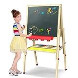 ChenYongPing Tavolo da Disegno per Bambini Cavalletto Magnetico Regolabile a Doppia Faccia per Lavagna Bianca per Bambini e Ragazzi 148 cm Cavalletto in Legno a Doppia Faccia