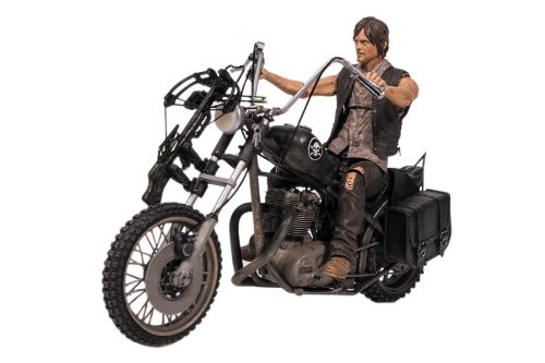 Image of Walking Dead TV Daryl Dixon with Chopper Action Figure Box Set