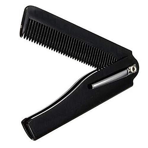 Peine plegable Hairbrush cuerno portátil plegable
