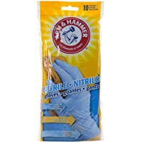 Arm & Hammer Classic Disposable Nitrile Gloves 10/Pkg-Blue