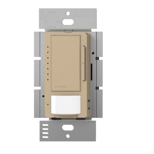 Lutron Maestro LED Dimmer switch with motion sensor, no neutral required, MSCL-OP153M-DS, Desert Stone by Lutron (Lutron Switch-desert Stone)