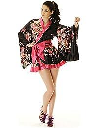 Kimono Damen Negligee Kleid Cosplay Lolita Minikleid Nashi S M 36 38 40 42