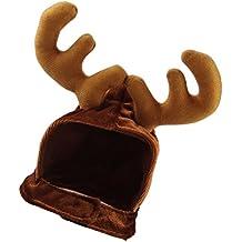 MagiDeal Sombrero de Perro Gato Mascota Accesorios Disfraz de Reno Traje de Navidad Complimentos Moderno