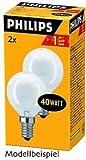 Philips Tropfenlampe 25W E27 Klar 2er-Pack