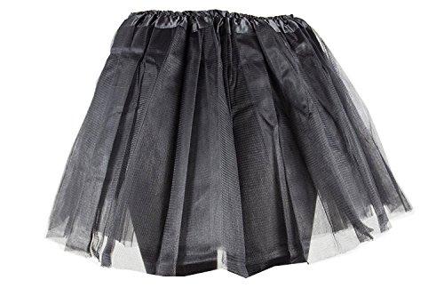 Damen Tütü Tutu Minirock Petticoat Tanzkleid Ballettrock Pettiskirt Unterrock in verschiedenen Farben (Schwarz Tutu)