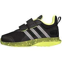 adidas Hyperfast 2.0 CF I, Zapatos de Primeros Pasos para Bebés, Negro (Negbas / Hiemet / Amasol), 19