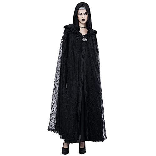 WEN-Kostüme Europäische und amerikanische Halloween Maskerade Party Kleid Cosplay Requisiten Spitze Umhang für Frauen (Farbe : - Jester Kostüm Weiblich
