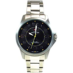 Swiss Mountaineer 100M Water Resistant Black Dial Men's Watch SMW002