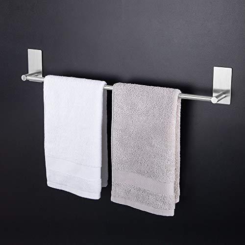 Kitlit Handtuchhalter Handtuchständer 55CM Selbstklebende Bad ohne Bohren Küchenleiste Handtuchhaken Hängeleiste (Handtuchhalter 55CM)