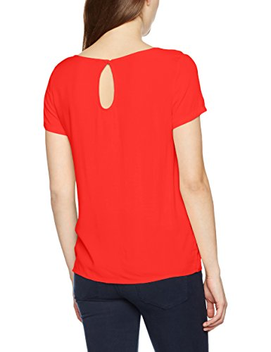 Only Onlfirst SS Top Noos Wvn, T-Shirt Donna Rosso (Flame Scarlet Flame Scarlet)
