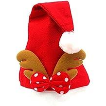 DaoRier 1pc Christmas Gorra de Navidad Diadema de Navidad Gorro de Papá Noel Christmas Gift Sombrero de Cuerno de reno