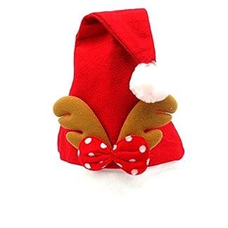 Cdet Sombrero de papá Noel niño Adulto Adornos navideños Sombrero clásico de Navidad Suministros para Fiestas navideñas Accesorios para Santa Claus,Estilo 1