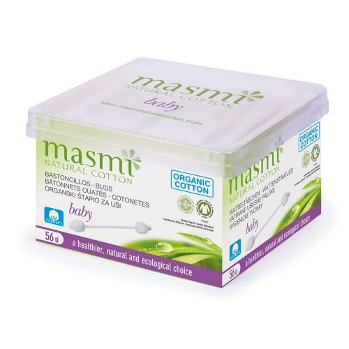 Masmi Bio Bébé cotons-tiges – 56 pièces en coton biologique