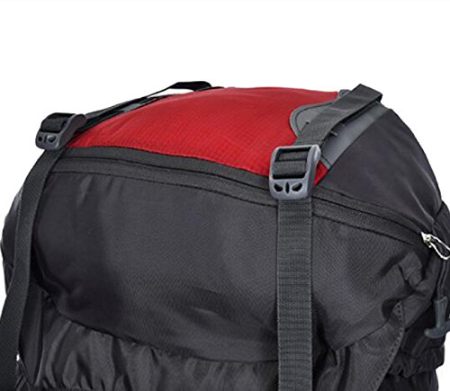 Wasserdicht Outdoor Sport Wandern Trekking Camping Reisen Rucksack Pack Bergsteigen Klettern Rucksack,Black Red