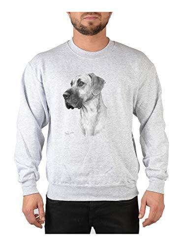 Art & Detail Shirt Sweater: Dogge (Schwarz-Weiß-Zeichnung)