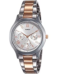 Timex Analog Silver Dial Women's Watch-TW000Q807