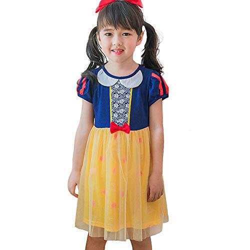 Lito Angels Baby Mädchen Prinzessin Schneewittchen Kleid Kostüm Weihnachten Halloween Party Verkleidung Karneval Cosplay Kinder 12-18 - 12 18 Monat Schneewittchen Kostüm