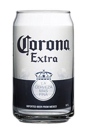 Corona Extra können Gläser (Set von 4), glas, farblos, 16 Ounce