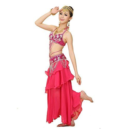 Best Dance Damen Bauchtanz Kostüm Sets BH Gürtel Full Circle Rock Karneval Fancy Outfit