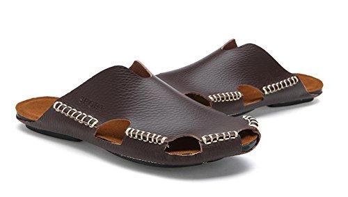 Nuovi uomini di estate in pelle traspirante sandali dei sandali di modo 3