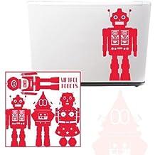 MYVINILO - Vinilo infantil - vintage robot rojo (28 x 28 cm)