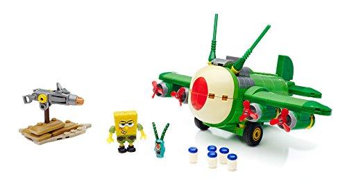 Mattel Mega Bloks CNH 49 - Bob Esponja - Juguetes tiranos Aviones, edi