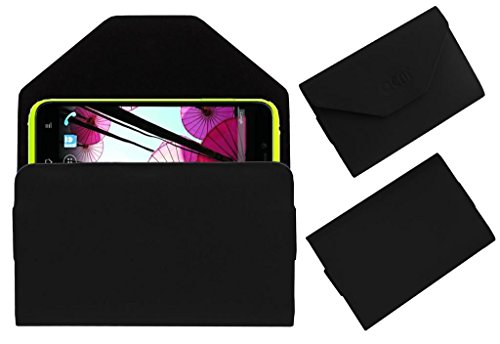 Acm Premium Pouch Case For Panasonic P11 Flip Flap Cover Holder Black  available at amazon for Rs.179