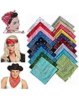 ILOVEDIY Bandana Kopftuch Halstuch Tuch in 20 Farben Mehrfarbig 100% Baumwolle