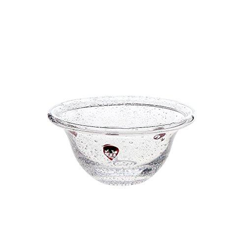 Bol de céréales Erdbeere 14cm, transparent/rouge, verre, (GERMAN Cristal powered by CRISTALICA)