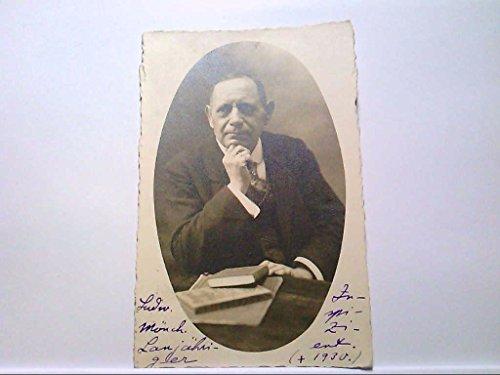 it Ludwig Mönch, Echt Fotografie, Anzug, Bücher, 1920, Gelaufen. (1920 Anzüge)
