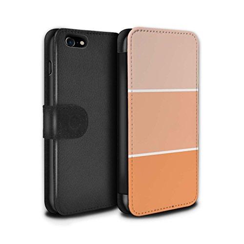 Stuff4 Coque/Etui/Housse Cuir PU Case/Cover pour Apple iPhone 8 / Pack 10pcs Design / Tons de Couleur Pastel Collection Orange
