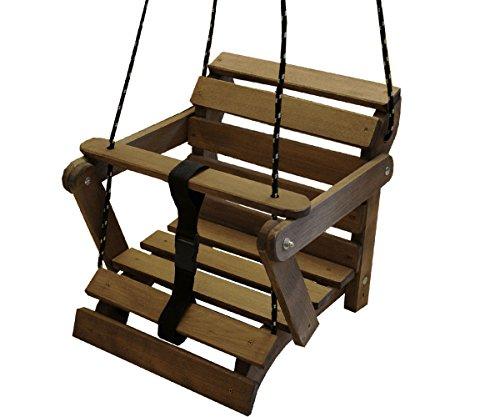 Schöne Babyschaukel 3 Möglichkeiten Kinderartikel Kinderschaukel Holzschaukel Teak Palisander (Palisander Farbe) - Indoor-teak-bank