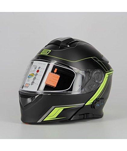Origine Helmets 204271729100104 Delta Motion Matt Casco Apribile con Bluetooth Integrato, Lime, M