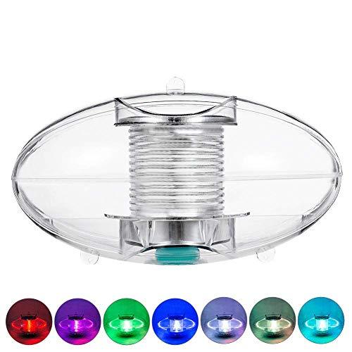 Solarlicht, Schwimmende Lampe für Schwimmbad Transparente Abdeckung LED Garten unter Wasser Außen Farbveränderung Wasserdicht mit Einfädeln Loch Dekorationen Party Teich - Wie Bild Show, Free Size -