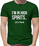 I'm In High Spirits… It's Rum Lustiges Herren T-Shirt - Flaschengrün - XXXL