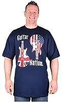 Big Mens Navy Espionage Guitar Nations T-Shirt 2xl 3xl 4xl 5xl 6xl 7xl 8xl