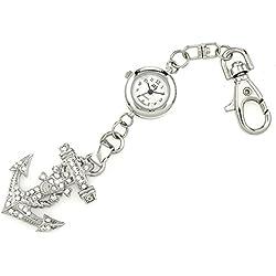 Silber Bling Anchor-Neuheit Gürtel Schlüsselanhänger/Schlüsselanhänger