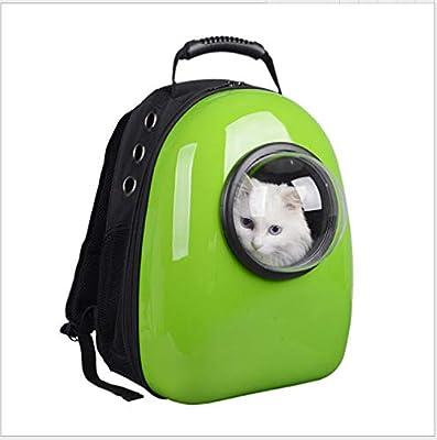 Space Capsule Bubble, Bolsa Transpirable para Mascotas, Mochila Semi-Universal para Gatos y Gatos, Mochila portátil con Burbujas por FLHLH.CO