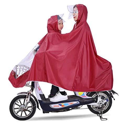 GYYFF Bicicleta eléctrica, Impermeable Doble, Madre e Hijo, diversión, Poncho, Aumento de Grosor...