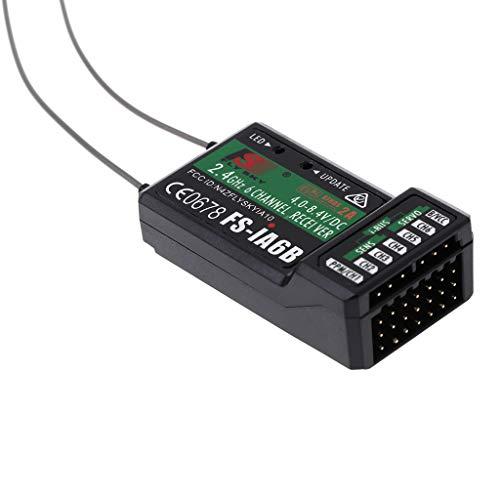 JENOR Flysky FS-iA6B 6-Kanal-Empfänger, PPM-Ausgang mit iBus-Port 2,4 GHz, RC Empfänger, kompatibel mit Flysky FS, i6, T6, i6S, i10, i6X RC Transmitter für FPV Racing RC Drone Quadcopter