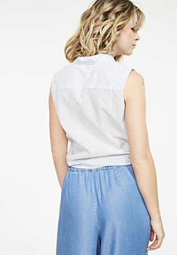 ARMEDANGELS Damen Top aus Bio-Baumwolle - Fanney Thin Stripes - GOTS, ORGANIC, CERES-008 Light Blue