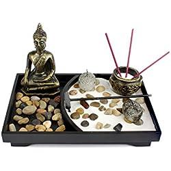 Tablero Zen Garden Meditation Sand Rocks Rastrillo Feng Shui Decor