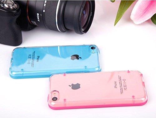 yesoo Coque arrière rigide Iphone 5C Hybride Transparent et étui de protection en gel souple transparent
