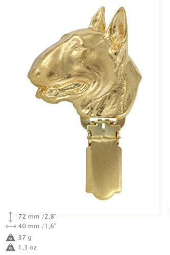 Bullterrier, Gold Feingehalt 999 Hund, Hund clipring, Hundeausstellung Ringclip/Rufnummerninhaber, limitierte Auflage, Artdog